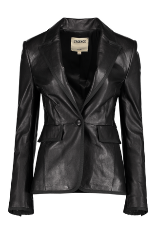 Paul Leather Tuxedo Jacket