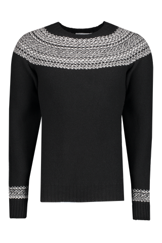 Officine Generale Front Image Fair Isle Seamless Reversible Crewneck