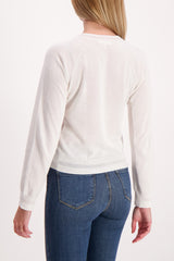 Back Crop Image Of Model Wearing Kento Crewneck Sweater