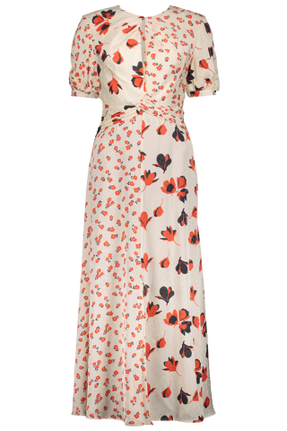 Front Image Mixed Floral Printed Dress