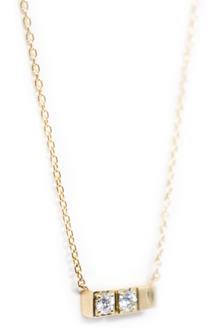 Pendant Detail Block Necklace 02 18k Yellow Gold
