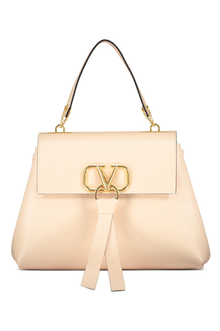 Valentino Front Image Go Logo Ribbon Small Single Handbag