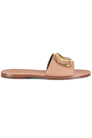 Front side image of Valentino Go Logo Slide Sandal T.05 Rose