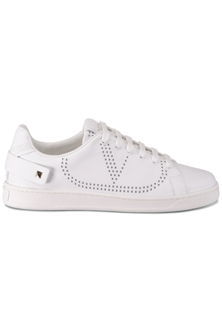 Front side image of Valentino Net Sneaker White