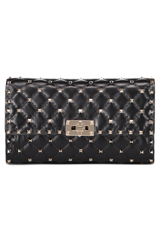 Front Image without Strap Rockstud Spike Shoulder Bag Nero