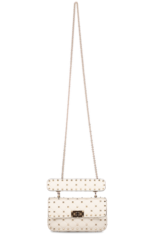Front Chain Strap Image Rockstud Spike Small Shoulder Bag