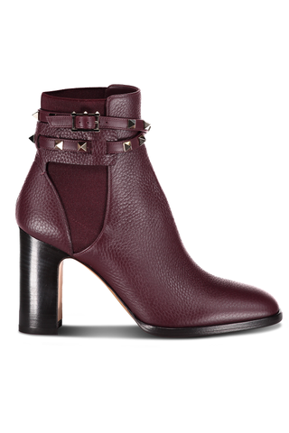 Side View Rockstud Ankle Bootie T.90