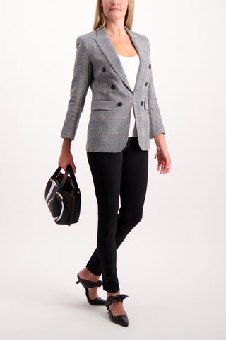 Full Body Image Of Model Wearing Veronica Beard Bexley Dickey Jacket