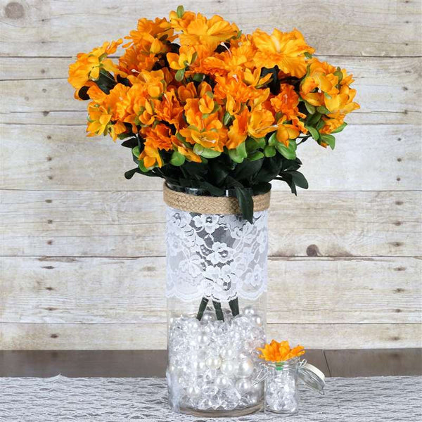 120 Undying Silk Gardenias Flowers - Orange