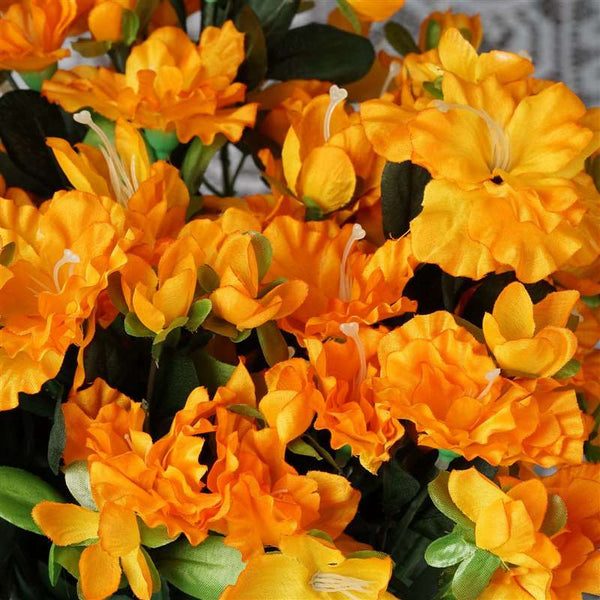 Gardenia Bush Artificial Silk Flowers - Orange