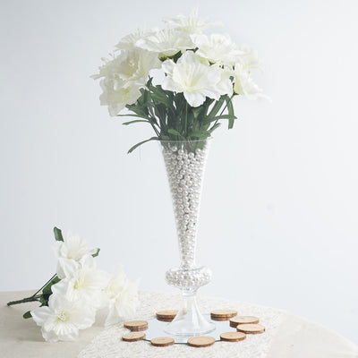 Daffodil Bush Artificial Silk Flowers - Cream