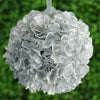 Hydrangea Kissing Ball Artificial Silk Flowers - Silver - 4 pcs