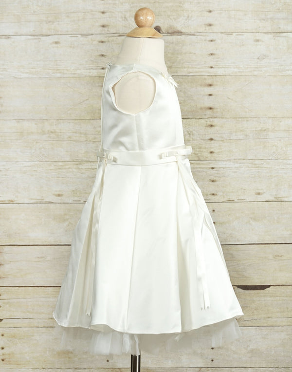 Spectacular Taffeta Silk Flower Girl Dress - White