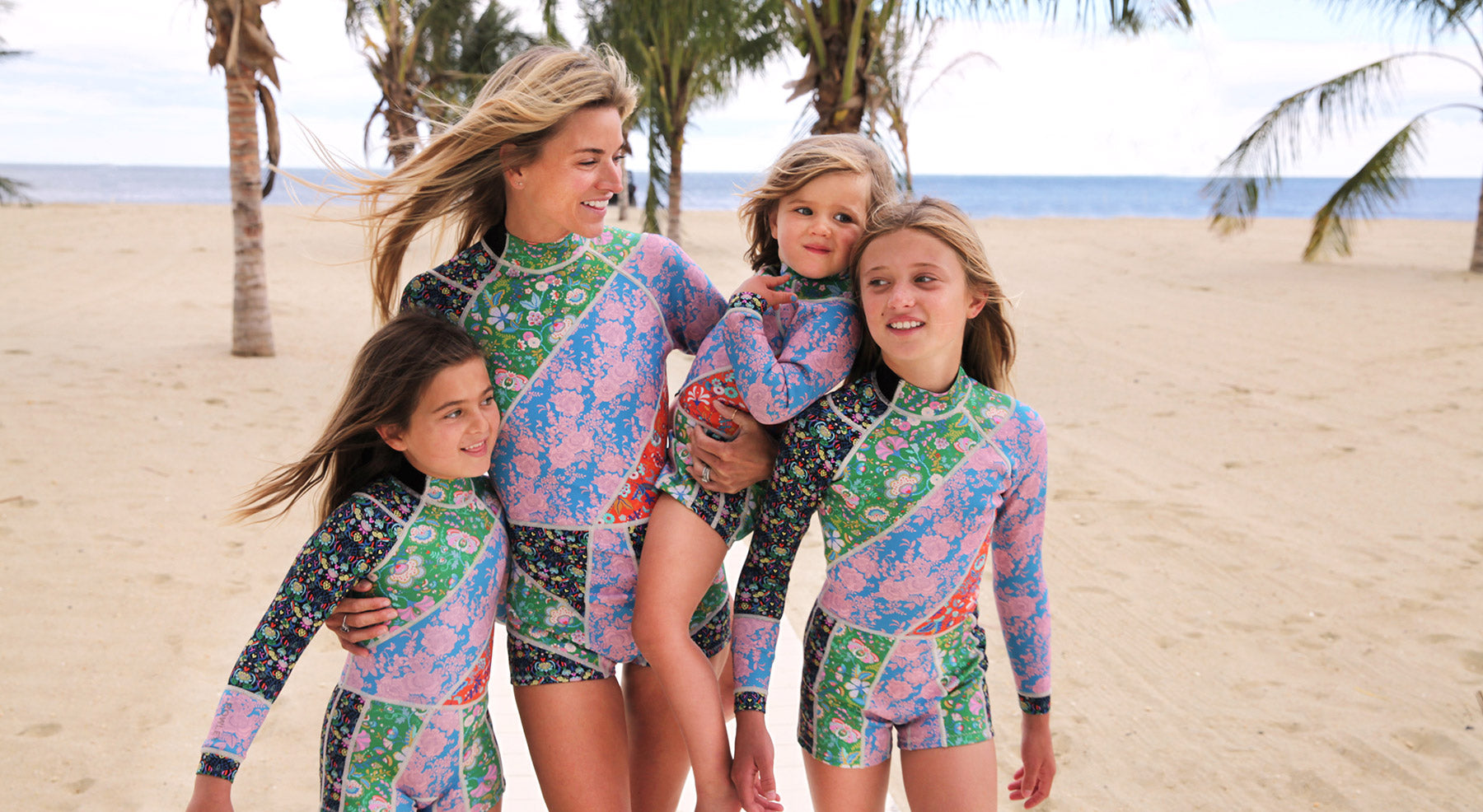 Kalleigh Floral Wetsuit and Girls Floral Wetsuits