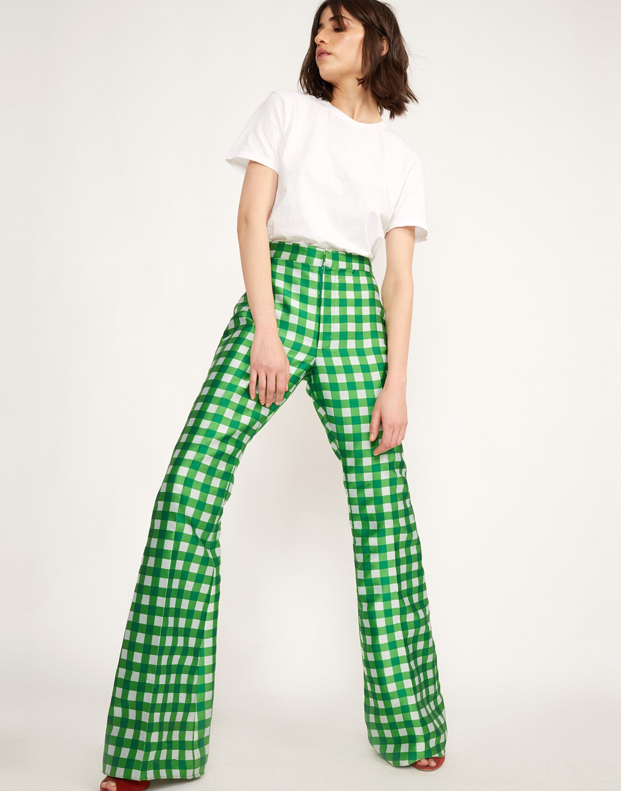 Additional View of Davis Gingham Pant
