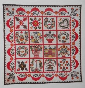 Shaffer-S.-Baltimore-Brides-Quilt-18x18-Ch1-0549-Poster-Original-Quilt-Made-1850-from-Collections-America-Hurrah-Antiques-list-35-our-22-e1449710571817-291x300.jpg
