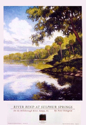River scene with trees and reflections Pettegrew Poster