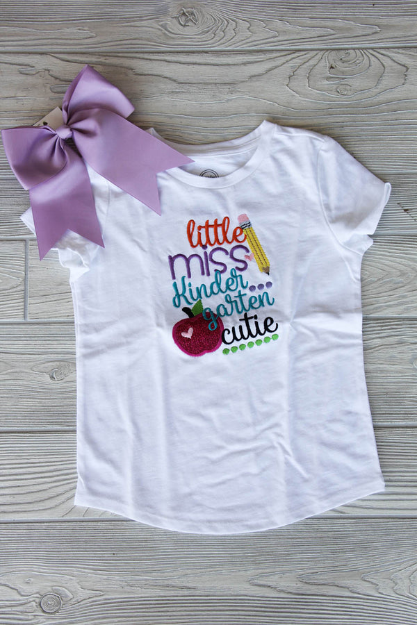 Little Miss Kindergarten Cutie Shirt