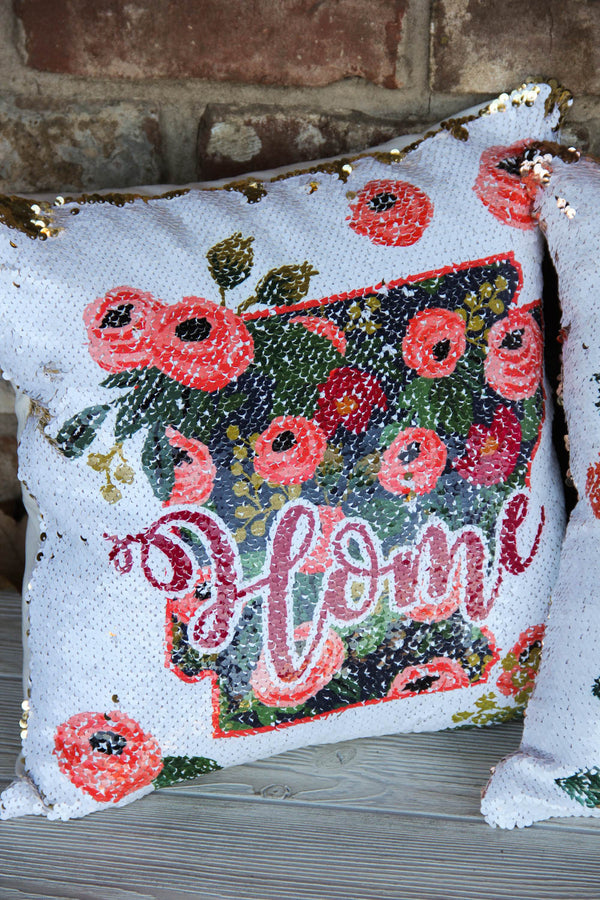 Home State - Sequin Pillow