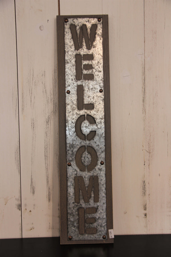 Galvanized Welcome Plaque