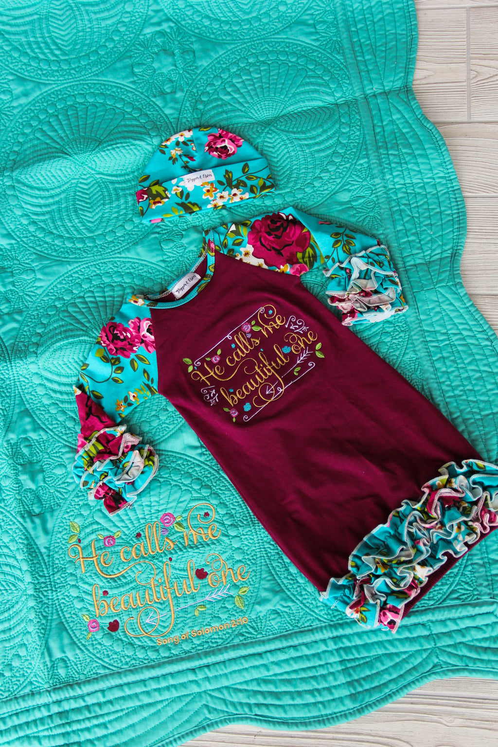 Song of Solomon Newborn Gown & Quilt
