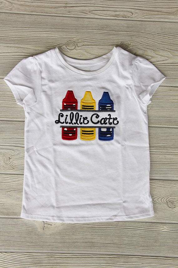 Crayon School Shirt w/Name