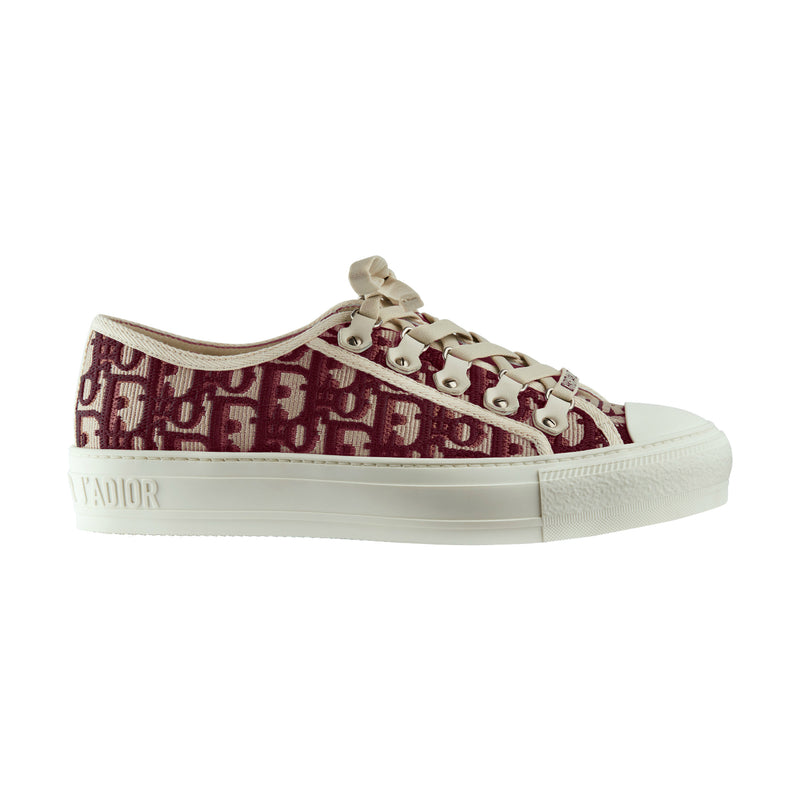 Walk 'n' Dior Sneakers in Deep Amaranth Oblique Embroidered Cotton