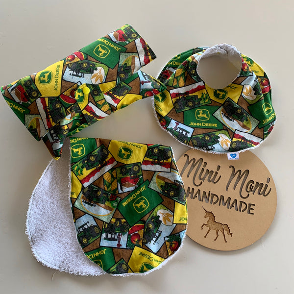 Bib, Nappy Wallet and Burp Cloth - Your choice of fabric