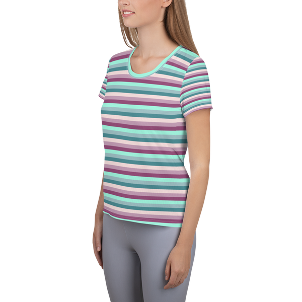 Essential Striped Scoop Neck Tee