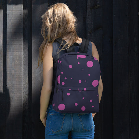 Pink Spotted Backpack