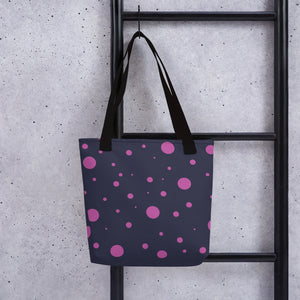 Pink Spotted Tote bag