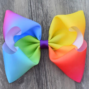 Rainbow Jumbo Boutique Bow