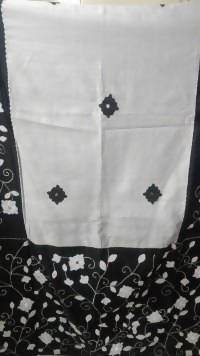 Festive Buzz Black & Off White Cotton Handloom Sarees $ 1414