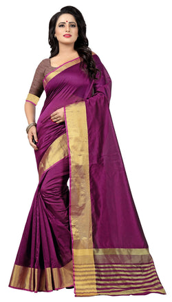 YOYO Fashion Latest Fancy Kota Dhupian Blue Saree $ SARI2581 Dark Pink