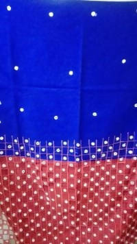 Festive Buzz Blue & Red Cotton Handloom Sarees $ 1413