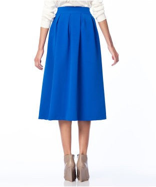 Mixray Blue Knee Length Skirt
