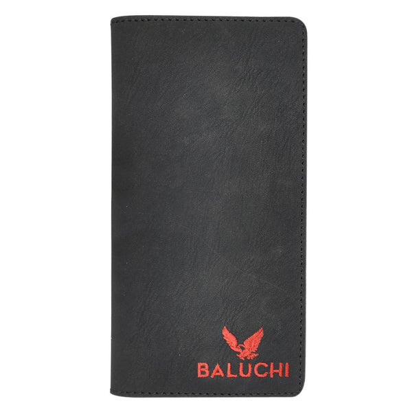 Baluchi Black Matt Finished Long Wallet for Men & Women $ BLC_LNGWLT_BLK_03