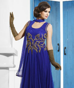 Net Gown with Churidar with Dupatta