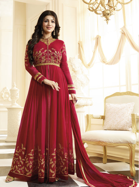 YOYO Fadhion Designer Latest Faux Georgette Embroidred Salwar Suit - F1134