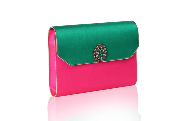 Bauble Burst Kalgi Green Clutch