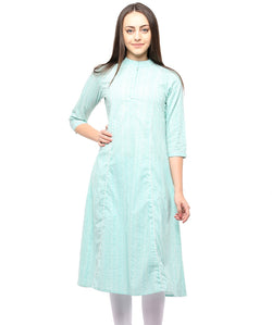 GREEN COLOR COTTON HOMA KURTIS