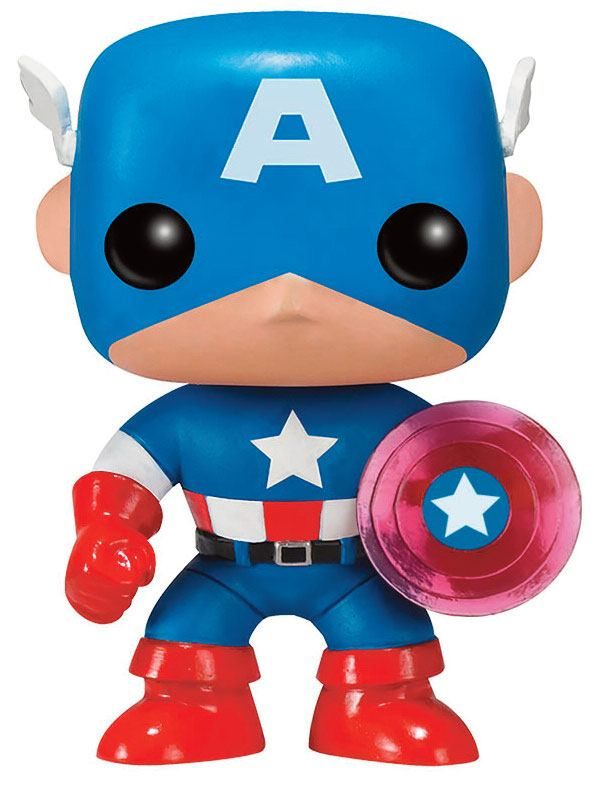 Funko POP! Marvel - Captain America - Vinyl Figure Captain America (with Photon Shield) (159) Exclusive
