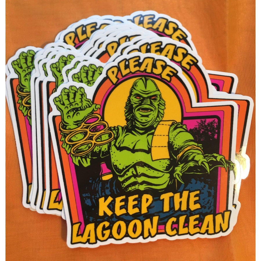 Keep the Lagoon Clean Sticker
