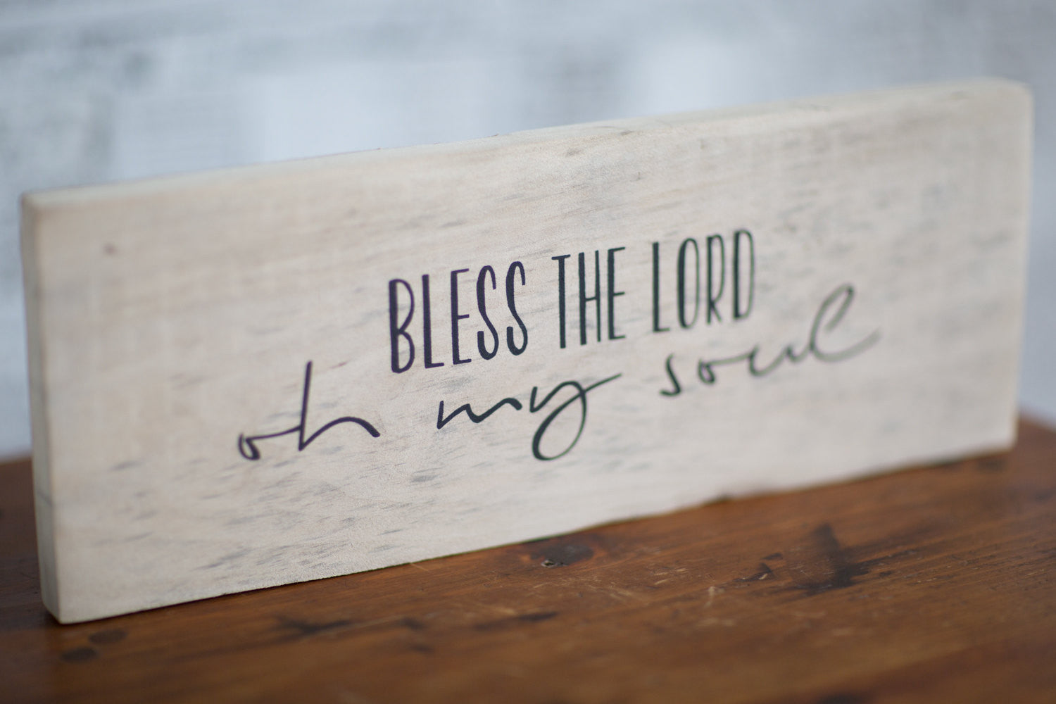Christian Wood Sign | Bless the Lord Oh My Soul Reclaimed Wood Sign | Blessed Sign | Christian