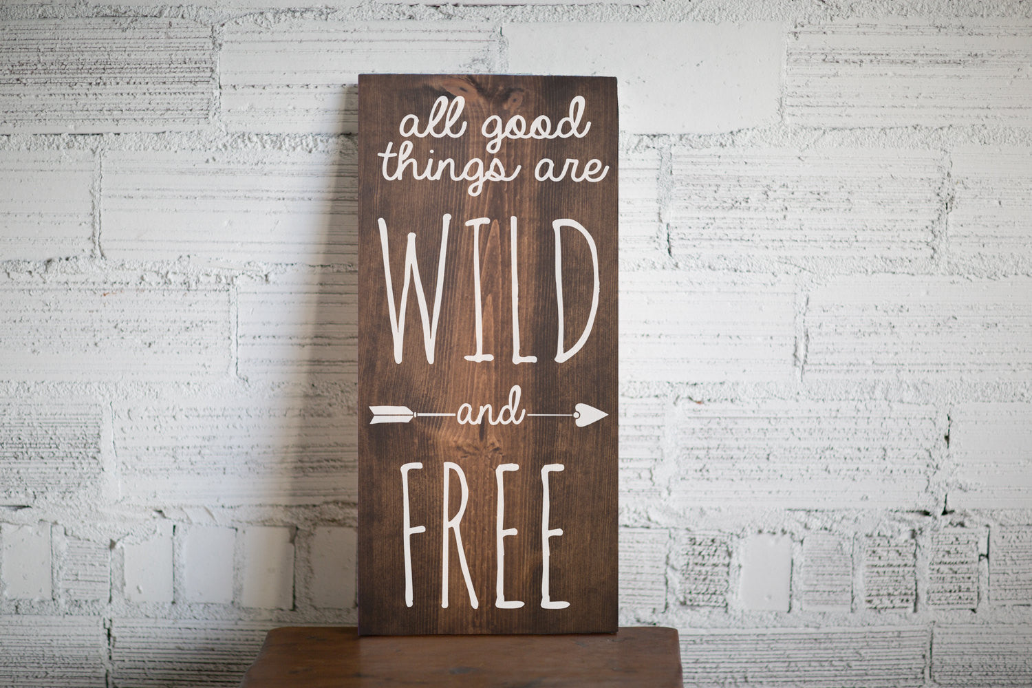 All Good Things Are Wild and Free Wood Sign Home Decor | Baby Shower Gift | Tribal Nursery Decor