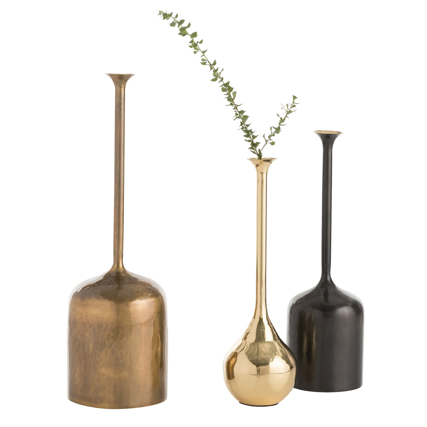 arteriors home harris vessels set of 3 with plants