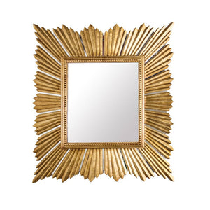 worlds away raymond gold leaf rectangular wall mirror