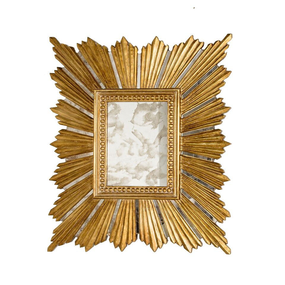 worlds away raymond gold leaf mirror rectangle
