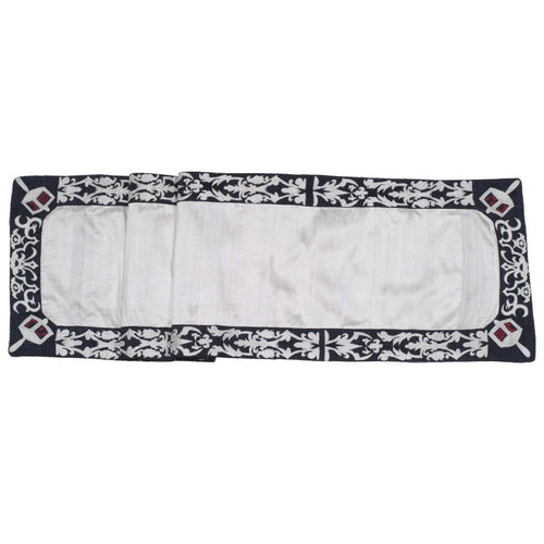 Ivory Silk Hanukkah Table Runner - 18