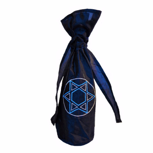Silk Star of David Gift Bottle Bag - Arcadia Home
